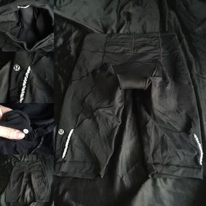 Lululemon black bike shorts size 4